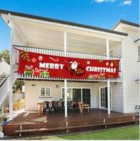Navidad Banner Partido Holiday Bunting Garland Photo Barland Navidad Halloween al aire libre interior Colgando decoración HWF11356
