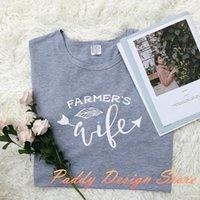 T-shirt Femme Okoufen Unisexe drôle chemise mignonne chemise mignonne dame tenue hipster tumblr graphique Crewneck tees agriculteurs lettre lettre imprimer haut Tops t