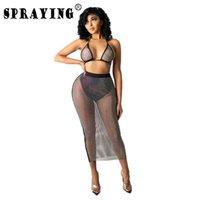 Wholesale Items Summer Cover Ups For Swimwear Women Sexy Beach Dress Y2k Bathing Suits Up Swimsuit Bulk S6672 Women's