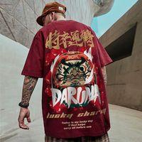 Hombre moda camiseta niños Hiphop de gran tamaño Dharma Tees estilo callejero tops machos sueltos camiseta asiática s-5xl