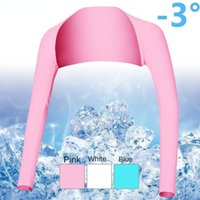 Elbow & Knee Pads Golf Sun Protection Shawl Sleeves Ice Silk Women's Long-sleeved Bottoming Shirt With Inside