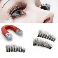 50Lots Natural 3D Triple Magnético Lash Cílios Falsos Ferramenta Maquiagem Handmade Magnet Magnet Eye Lashes Extensão Maquiagem Ferramentas