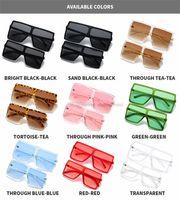 Мода дети большие квадратные очки солнцезащитные очки детей ультрафиолетовые защитные очки матери и дочь соответствующие пляжные очки A7389