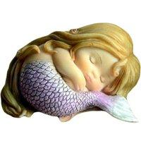 Eco-Friendly Decoración de jardín COLECCIÓN DE TODOS LOS DÍAS FANTASY FIGURINE Art Obras de arte Decoración del hogar Regalos Resina Miniatura Mermaida Princesa Estatua Fairy