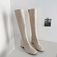 Boots Women's Rubber Clogs Platform Rain Med Basic Hoof Heels PU Flat Shoes Basi