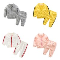 Kids Tracksuit Autumn Winter Long Sleeve Zipper Coat Jacket Tops Pants Children Multi-color Loose Casual Sports Suit Sportswear G20105