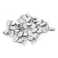 30 unids / lote de gancho de metal Chupete de chupete, clips de suspensión para chaqueta accesorios de ropa lindos chupetes de chupetes #
