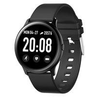 High quality KW19 Smart Watch thin Body Ladies Men Blood Pressure Heart Rate Monitoring Round Waterproof Multi-Sport Smartwatch
