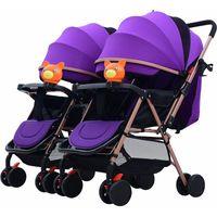 Cochecitos # 2021 para gemelos Infantes Mutiple Cochecito plegable Viaje Luz Luz Peso Bebé Carriajes Umbrella PRAMA