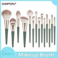 Makeup Brushes 11-14pcs Set Pearl Green   Rose Pink Professional Make Up Brush Foundation Beauty Pens-make Tool