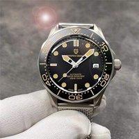 Casual malha cinto moda relógios masculinos 007 comandante homens assistir à prova d 'água 100m relógio de pulso japão nh35 pd-1667 relógios de pulso