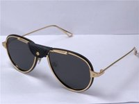 fashion design sunglasses 0242 pilot metal frameless simple and popular style uv400 outdoor protection glasses top quality