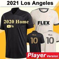 2021 Los Angeles Mens FC Player версия Футбол Джетки LAFC ROSSI VELA HOME BLACK AULL FOOTHION рубашка благословение Диоминде с коротким рукавом