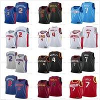 2021-2022 Новый проект выбора 2 CADE CUNNINGHAM трикотажные изделия баскетбол 7 Джален Грин 4 Evan Mobley Blue черный белый красный высочайшее качество для мужской рубашки Униформа будет отправлять реальное число