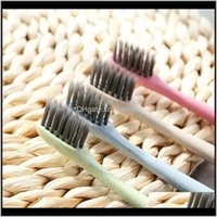 Other Bath & Garden Drop Delivery 2021 Toilet Supplies Soft Bamboo Charcoal Toothbrush Eco Friendly Wheat St Portable Home Travel Tooth Brush