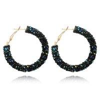 Europeo e americano Simple Eakengails Personalità Retro Orecchini esagerati Orecchini fatti a mano Perle di cristallo orecchini orecchini ragazza pendente