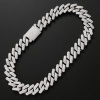 Chains 20MM Bling Iced Out Cuban Link Chain Hip Hop Jewelry Choker Gold Silver Color Cubic Zirconia For Mens Rapper Necklaces Gifts