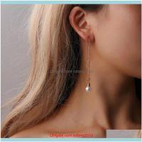 & Chandelier Jewelry Women Fashion Irregular Tassel Faux Pearl Long Chain Dangle Stud Earrings Jewelry Gift Drop Delivery 2021 Qbkfl