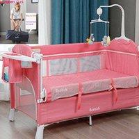 Bébé bébé facile à parcourir enfants lit superposé lit pliant avec une table de couches Berceau de berceau pour la chaise à bascule de camping en plein air