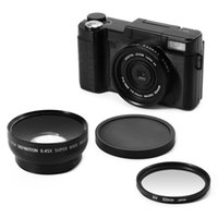24MP HD Half-DSLR Professional Digital Cameras With 4X Telephoto Fisheye & Wide Angle Lens Macro Camera