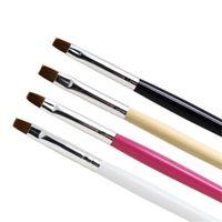 Flachkopf-Phototherapie-Nagelbürsten Pen Single Pack Fabrik Großhandel Nagel-Tools mit vier Farben, um 50 stücke zu wählen