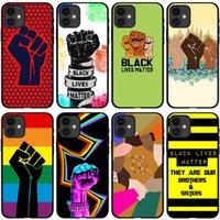 흑인 생활 문제 인권 전화 케이스 전체 보호 부드러운 그립 프리미엄 실리콘 TPU 케이스 패션 디자이너 커버 아이폰 12 Pro Max