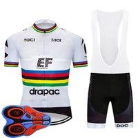 Erkekler EF Eğitim İlk Takım Bisiklet Kısa Kollu Jersey Önlüğü Şort Kitleri Yaz Hızlı Kuru MTB Bisiklet Kıyafetler Yol Bisiklet Giyim Y20101303
