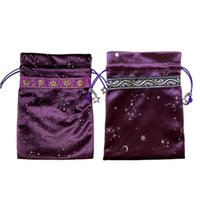 Gift Wrap Velvet Bag Nordic Starry Sky Jewelry Pendant Board Game Drawstring Storage Moon Star Print Party Birthday Candy