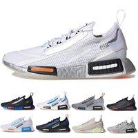 حذاء رياضي رجالي ناسا x NMD R1 Spectoo ثلاثي أسود وأبيض ورمادي Un University أزرق وفضي وبرتقالي يسمح بالتهوية حذاء رياضي للرجال والنساء
