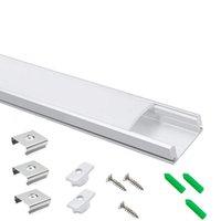 Bar Işıkları 10-pack 150 cm 4.92ft LED Şerit Sütlü Difüzörlü LED Şerit Profil, 17.4x7mm U Şekil Bant Hafif Kanal 12mm Geniş Kurdele
