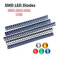 빛 구슬 100pcs 5colors x 20pcs 5730 1210 1206 0805 0603 LED 다이오드 구색 SMD 키트 화이트 레드 블루 옐로우 그린