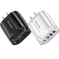 Fast Charge 4Ports PD USB-C Wall Charger Portable Travel Power Adapters For Iphone 11 12 13 X XR Samsung LG Android phone