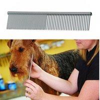 Herramientas de aseo para perros Limpie los pinceles baratos Pin Cat Gato de acero inoxidable Peine Cepillo de metal PET PET Suministro de productos FY1X