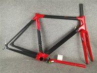 أحمر c64 الإطار الكربون إطارات الطريق دراجة الإطار دراجة الكربون أسود اللون تصميم إطارات