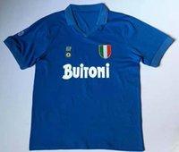 Men top tshirt 1987-88 Maradona classic Retro SSC Napoli Home Away High quality T-shirt Diego Armando Customize A Special Kind of Hero