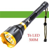 500m CREE XM-L T6 500Lm Tactical For Outdoor Security Camping Hunting Torch Light Flashlights Torches