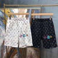 Пляжные штаны 21ss классические буквы пляжные брюки 3D HD печать женщины и мужские унисекс случайные шорты прямой инъекции печать 386W