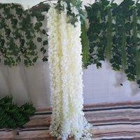 أنيقة بيضاء زهرة الاصطناعية سلسلة زفاف الديكور خلفية سقف القوس الجدار شنقا من مقلد الوستارية فائقة التشفير