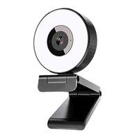 X11-Network Bilgisayar Kamerası Ile Dolgu Işık Ile USB Sürücüsiz Canlı Web Sınıfı Video Konferans HD Office Öğretim Webcam