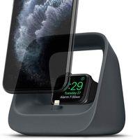 2 in 1 Silikonständerhalter für iPhone Apple Watch 3/4/5/6, Airpods