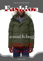 Winter Parka Outerwear Wolf fur Hooded 2021 Canada Down Jacket top quality 1:1 Coat Hiver Doudoune 90% white goose down fur coat wolf hair