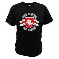 Беларусь-Погоня белый красный белый флаг футболка протест символ белорусских людей исторические национальные 100% хлопковые тройники