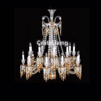 Lampadari lampadario giallo baccarat lampadario a sospensione in vetro cristallo