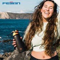 Feijian LKG Thermos Double Wall Вакуумная колба с магнитной крышкой Открытый спортивный водяной бутылка из нержавеющей стали термальная кружка утечка Y0910