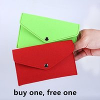 Wallets 2pcs Lot Long Wallet Unisex Purses Card Holder Man And Women Clutch Money Bag Felt Mobile Phone Bags Lovers1