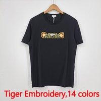 Hommes Mode T-shirts 2021 Femmes à la mode Tees Tigre Broderie Tops avec lettre Mens d'été Mens Vêtements Casual Vêtements Asiatique Taille Asiatique