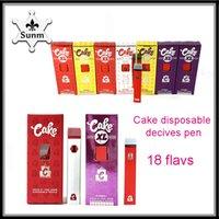 Top Cake Delta 8 Einweggeräte Zigarette 1.0gramm Leerer Pod Wiederaufladbare Zigarettenset Für dicke Öl VS Air Bar Lux Filex Max Bang Puff Plus