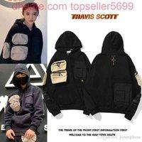 20SS TRAVIS SCOTT TS CO Sudaderas con capucha Cactus Jack para hombres y mujeres Bordado Micro Label Multi Bolster Sweater Designer
