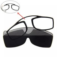 Portatile Mini naso clip da lettura occhiali da uomo donne TR90 Ultralight Pocket Black with Case +1.5 2.5 Occhiali da sole