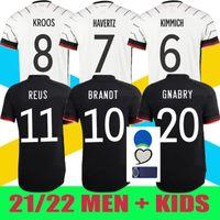 20/21 2021 독일 축구 유니폼 Gnabry Werner Kroos 20 21 KRICHER KROOS 20 21 KIMMICH Maillot de Foot Football Sane Goretzka Can Havertz Muller Men + Kids